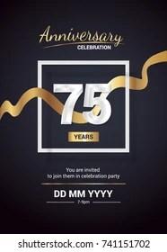 https www shutterstock com search 75 birthday invite