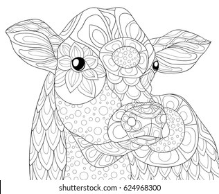Cow Coloring Page Images Stock Photos Vectors Shutterstock
