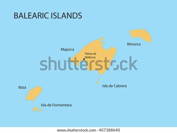 https www shutterstock com de image vector balearic islands map indication palma de 407388640
