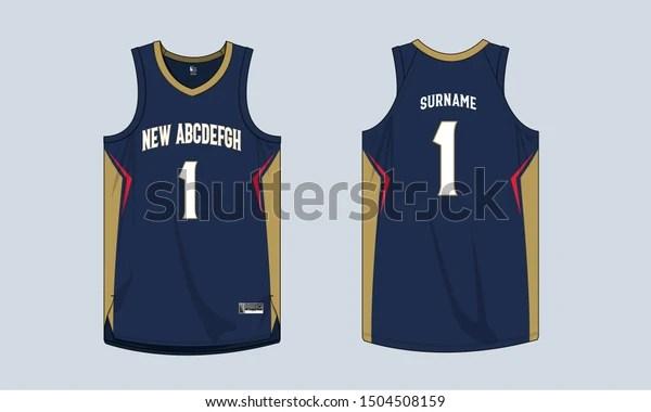 Download Basketball Jersey Mockup Template Vector Design Stock ...