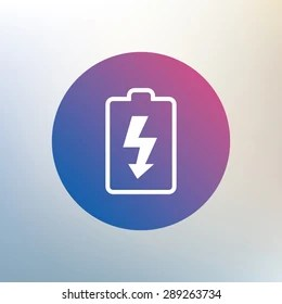 Battery Charging Sign Icon Lightning Symbol Stock Illustration     Lightning symbol  Icon on blurred background  Vector