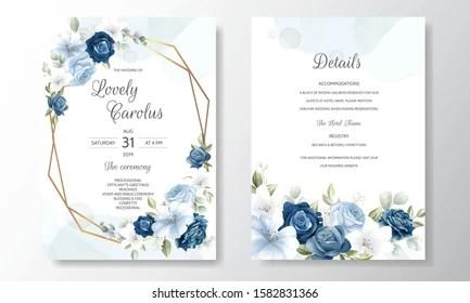 https www shutterstock com image vector beautiful floral wreath wedding invitation card 1582831366