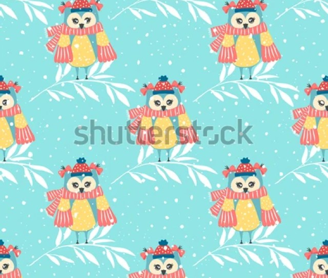 Beautiful Seamless Wallpaper With Owls