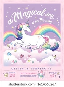 https www shutterstock com image vector birthday party invitation card template beautiful 1614565267
