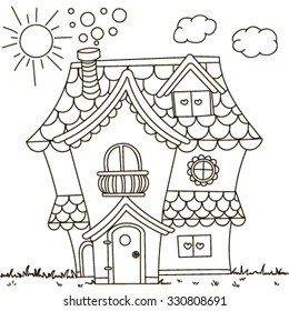 coloring pages of houses # 20
