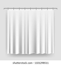 https www shutterstock com image vector blank shower curtain template mock realistic 1101298511