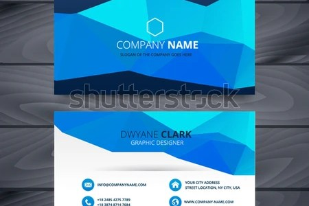 Blue Business Card Template Design Stock Vector  Royalty Free     blue business card template design