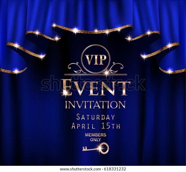 https www shutterstock com image vector blue vip event invitation card red 618331232