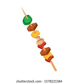 https www shutterstock com image vector brochette meat vegetables isolated icon vector 1578221584