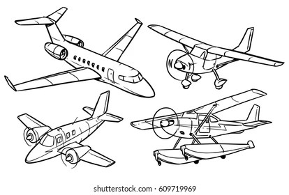 Airplane Coloring Pages Images Stock Photos Vectors Shutterstock