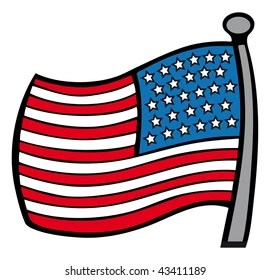 American Flag Outline Images Stock Photos Vectors Shutterstock