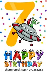 Happy 7th Birthday Images Stock Photos Vectors Shutterstock
