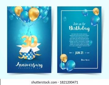 https www shutterstock com image vector celebration 30 th years birthday vector 1821200471