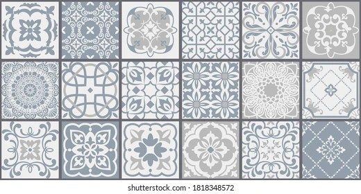 https www shutterstock com image vector collection 18 ceramic tiles turkish style 1818348572