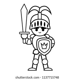 knight coloring page # 41