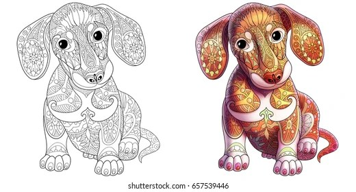 dachshund coloring pages # 14
