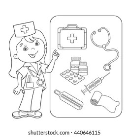 Doctor Coloring Book Images Stock Photos Vectors Shutterstock