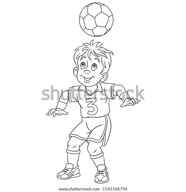 Coloring Page Coloring Picture Cartoon Football Stock Vector Royalty Free 1541506796
