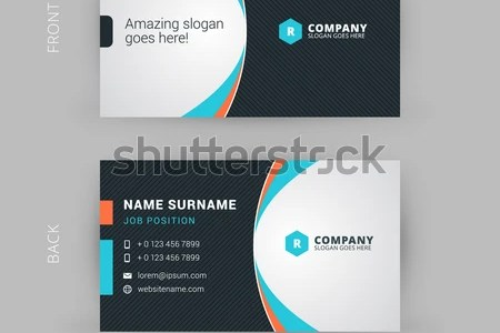 Creative Clean Vector Business Card Template Stock Vector  Royalty     Creative and Clean Vector Business Card Template