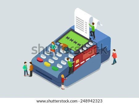 Credit Card Pin Code Payment Terminal Stock Vector (Royalty Free) 248942323 - Shutterstock