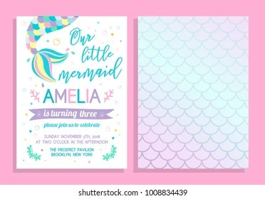 https www shutterstock com image vector cute birthday party invitation our little 1008834439