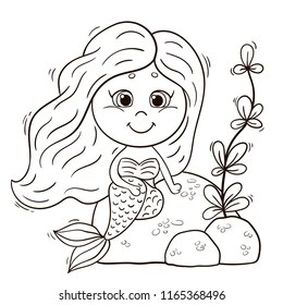 Mermaid Colouring Images Stock Photos Vectors Shutterstock