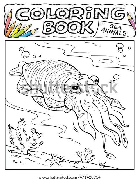 squid coloring pic # 46