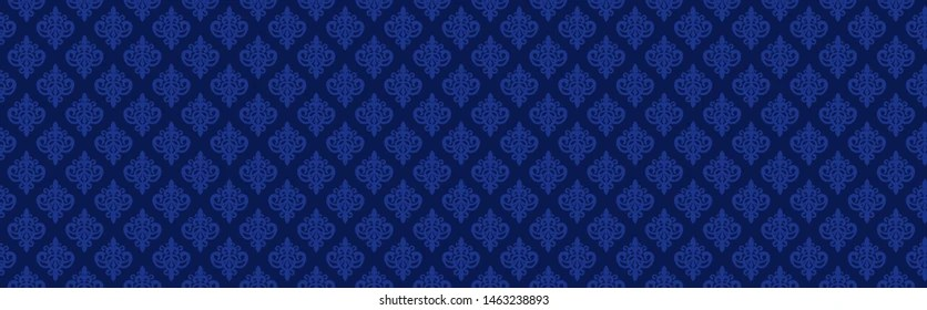 https www shutterstock com image vector dark navy blue seamless damask pattern 1463238893