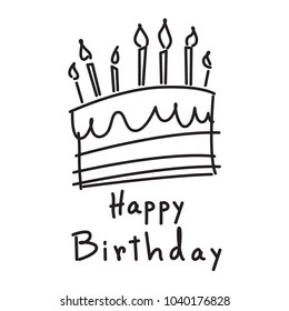 Birthday Cake Drawing Images Stock Photos Vectors Shutterstock