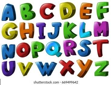 Alphabet Letters Clip Art Images Stock Photos Vectors Shutterstock