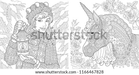 fantasy coloring pages for adults # 10