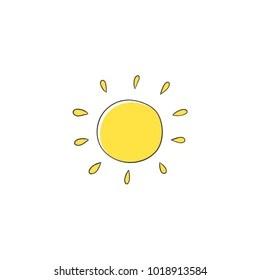 https www shutterstock com image vector flat cartoon vector illustration on sun 1018913584