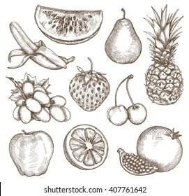 Fruit Drawing Images Stock Photos Vectors Shutterstock