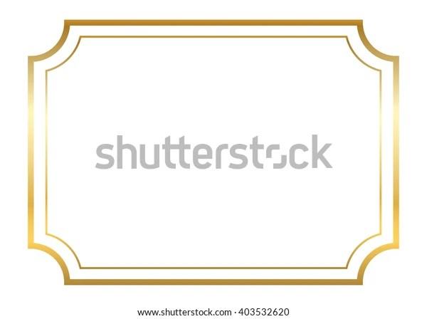 Cadre Dore Beau Design Simple Et Image Vectorielle De Stock Libre De Droits 403532620