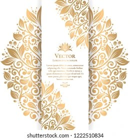 https www shutterstock com image vector gold white vintage greeting card luxury 1222510834