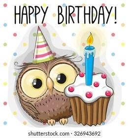 Happy Birthday Owl Images Stock Photos Vectors Shutterstock