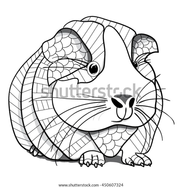guinea pig coloring page # 21