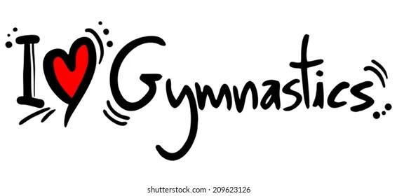 Download I Love Gymnastics Images, Stock Photos & Vectors ...