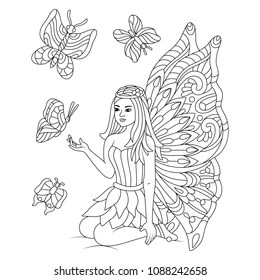 Fairy Coloring Book Images Stock Photos Vectors Shutterstock