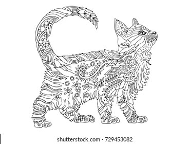 Cat Adult Coloring Pages Images Stock Photos Vectors Shutterstock