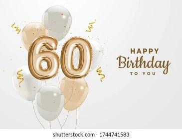 https www shutterstock com image vector happy 60th birthday gold foil balloon 1744741583