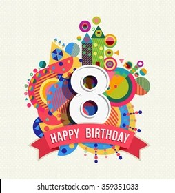 8th Birthday Images Stock Photos Vectors Shutterstock