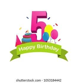 Happy 5th Birthday Images Stock Photos Vectors Shutterstock