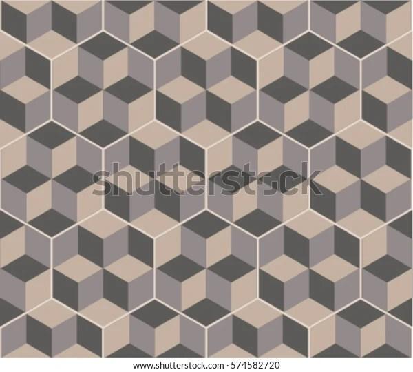 https www shutterstock com image vector hexagonal tiles optical illusion decor floor 574582720