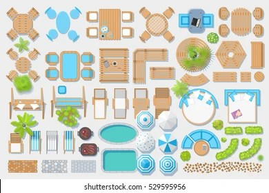 https www shutterstock com fr image vector icons set outdoor furniture patio items 529595956