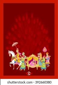https www shutterstock com image vector indian hindu wedding invitation card ceremony 392660380