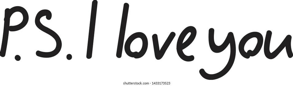 Download Afbeeldingen, stockfoto's en vectoren van Ps i Love You ...