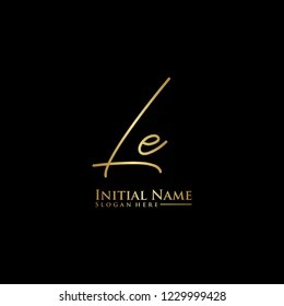 https www shutterstock com image vector letter le logo initial design vector 1229999428