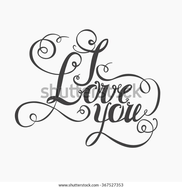 Download Lettering Love You Hand Drawing Twisted Stock Vector ...