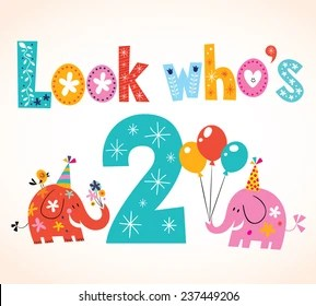 2nd Birthday Images Stock Photos Vectors Shutterstock
